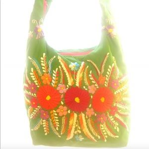 Mexican Bag cross body floral embroidered boho